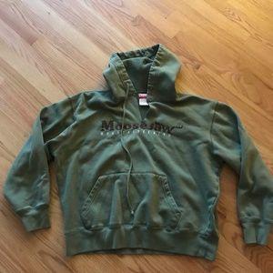 Moosejaw green hoodie sweatshirt